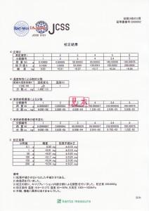 JCSS校正証明書 天びん-3